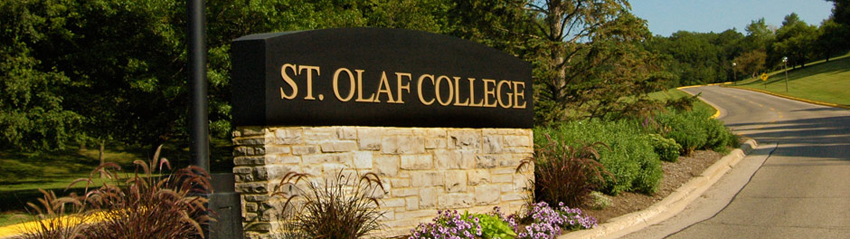 St. Olaf College sign